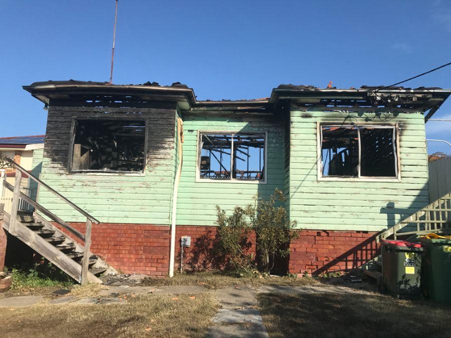 Fire damaged house - House Demolition Express specialises in safe demolition